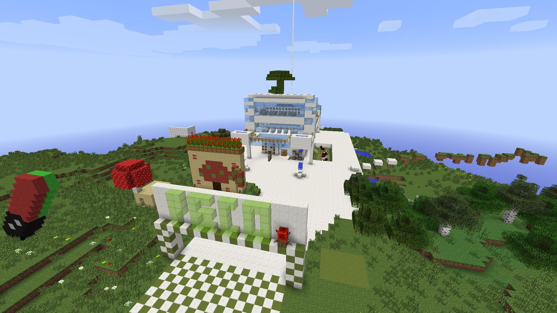 Minecraft. Você vai precisar de redstone para fazer o trilho de um #0B4BC0 1920x1080