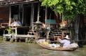 Mercado flutuante de Amphawa, Tailândia